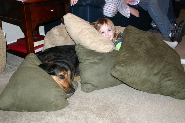 Emberly joins Luke's nap