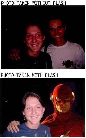 Photo With and Without Flash